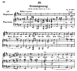 greisengesang d.778, high voice in b minor, f. schubert (pet.