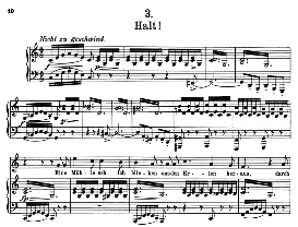 halt! d.795-3, high voice in c major, f. schubert (die schöne müllerin) pet.