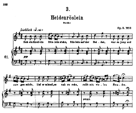 Heidenröslein D.257, High Voice in G Major, F. Schubert (Pet.) | eBooks | Sheet Music