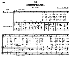 himmelsfunken d.651, high voice in g major, f. schubert (pet.)