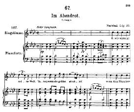 Im Abendrot D.799, High Voice in A Flat Major, F. Schubert (Pet.) | eBooks | Sheet Music