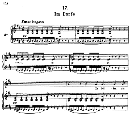 im dorfe d.911-17, high voice in d major, f. schubert (winterreise) pet.