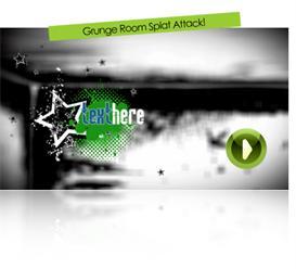 grunge room splat attack