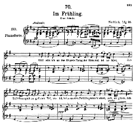 Im Frühling D.882, High Voice in G Major, F. Schubert (Pet.) | eBooks | Sheet Music