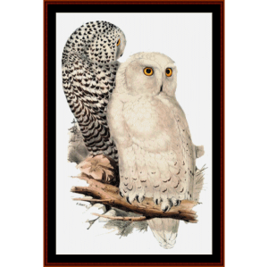 snowy owls - wildlife cross stitch pattern by cross stitch collectibles