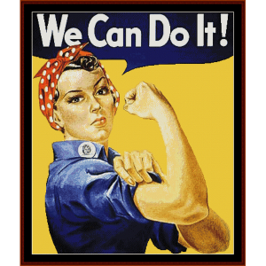 we can do it - american history cross stitch pattern by cross stitch collectibles
