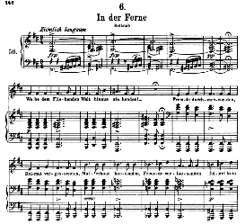 In der Ferne D.957-6, High Voice in B Minor, F. Schubert (Schwanengesang) Pet. | eBooks | Sheet Music