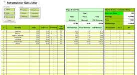 Odds Calculator Trixie Excel xls Spreadsheet | Documents and Forms | Spreadsheets