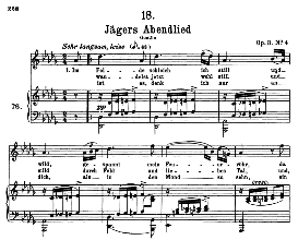 Jägers Abendlied D.368, High Voice in D Flat Major, F. Schubert (Pet.) | eBooks | Sheet Music