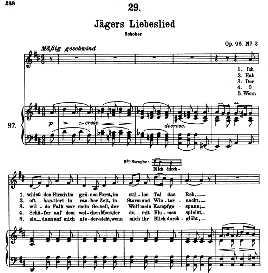 Jägers Liebeslied D.909, High Voice in D Major, F. Schubert (Pet.) | eBooks | Sheet Music
