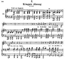 kriegers ahnung d.957-2, high voice in c minor, f. schubert (schwanengesang) pet.