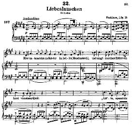 liebeslauschen d.698, high voice in a major, f. schubert (schwanengesang) pet.