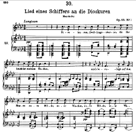 Lied eines Schiffers an die Dioskuren D.360, High Voice in A Flat Major, F. Schubert (Pet.) | eBooks | Sheet Music