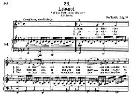 Litanei D.343 Am Tage Aller Seelen, High Voice in E Flat Major, F. Schubert  (Pet.) | eBooks | Sheet Music