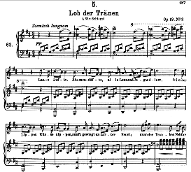 Lob der Tränen D.711, High Voice in D Major, F. Schubert (Pet.) | eBooks | Sheet Music