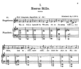 Meeres stille D.216, High Voice in C Major, F. Schubert (Pet.) | eBooks | Sheet Music