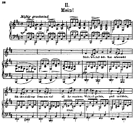 Mein! D.795-11, High Voice in D Major, F. Schubert (Die Schöne Müllerin) Pet. | eBooks | Sheet Music