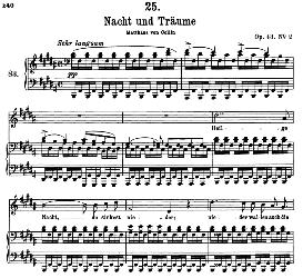 Nacht und Träume D.827, High Voice in B Major, F. Schubert (Pet.) | eBooks | Sheet Music
