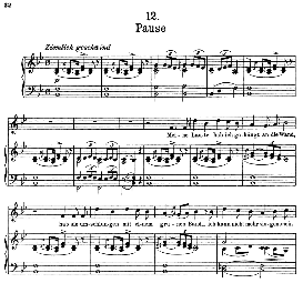 Pause D.795-12, High Voice in B Flat Major, F. Schubert (Die Schöne Müllerin) Pet. | eBooks | Sheet Music