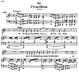 Prometheus D.674, High Voice in B Flat Major, F. Schubert (Pet.) | eBooks | Sheet Music