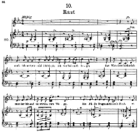 rast d.911-10, high voice in c minor, f. schubert (winterreise) pet.