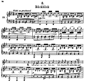 rückblick d.911-8, high voice in f minor, f. schubert (winterreise) pet.
