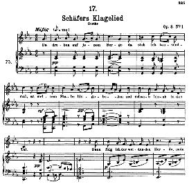 Schäfers Klagelied D.121, High Voice in C Minor, F. Schubert   eBooks   Sheet Music