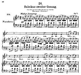 Suleika II D.717, High Voice in B Flat Major, F. Schubert (Pet.) | eBooks | Sheet Music