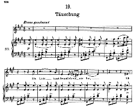 täuschung d.911-19, high voice in a major, f. schubert (winterreise) pet.