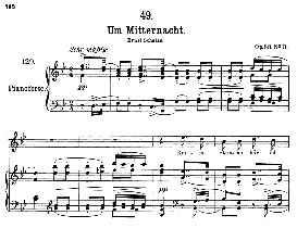 um mitternacht d.862, high voice in b flat major, f. schubert (pet.)