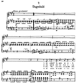 Ungeduld D.795-7, High Voice in A Major, F. Schubert (Die Schöne Müllerin) Pet. | eBooks | Sheet Music