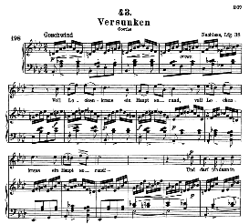 Versunken D.715, High Voice in A Flat Major, F. Schubert (Pet. | eBooks | Sheet Music