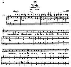 Viola D.786, High Voice in A Flat Major, F. Schubert (Pet.) | eBooks | Sheet Music