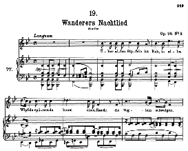 "Wanderers Nachtlied D.768, ""Über allen gipfeln ist Ruh"" High Voice in B Flat Major, F. Schubert (Pet.) 