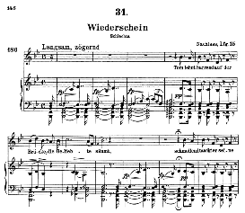 Wiederschein D.639, High Voice in B Major, F. Schubert (Pet.) | eBooks | Sheet Music