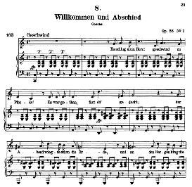 Willkomen und abschied D.767, High Voice in C Major, F. Schubert (Pet.) | eBooks | Sheet Music