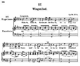 "wiegenlied (lullaby) d.498 ""schlafe, schlafe..."" , high voice in a flat major, f. schubert (pet.)"