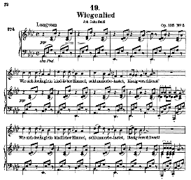wiegenlied d.867, high voice in a flat major, f. schubert (pet.)