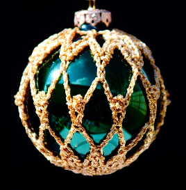 crochet christmas ornament cover b2-8