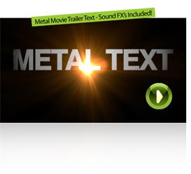 Metal Movie Trailer Text | Software | Software Templates