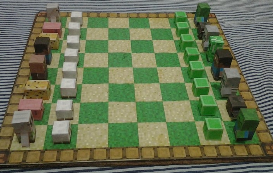 minecraft inspired chess game