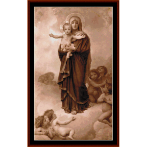 our lady of the angels - bouguereau  cross stitch pattern by cross stitch collectibles