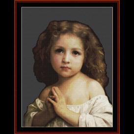 prayer, 1878 - bouguereau  cross stitch pattern by cross stitch collectibles