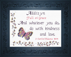 Name Blessings - Addisyn | Crafting | Cross-Stitch | Religious