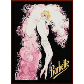 barbette - vintage poster  cross stitch pattern by cross stitch collectibles
