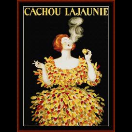 cachou lajaunie - vintage poster  cross stitch pattern by cross stitch collectibles