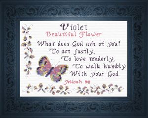 Name Blessings - Violet | Crafting | Cross-Stitch | Other