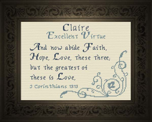 name blessings - claire 2