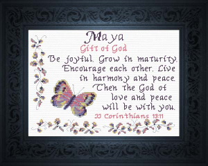 name blessings - maya