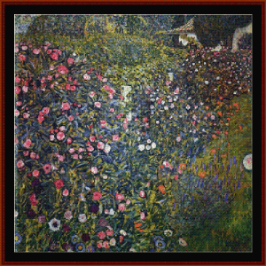 italian horticultural landscape - klimt  cross stitch pattern by cross stitch collectibles